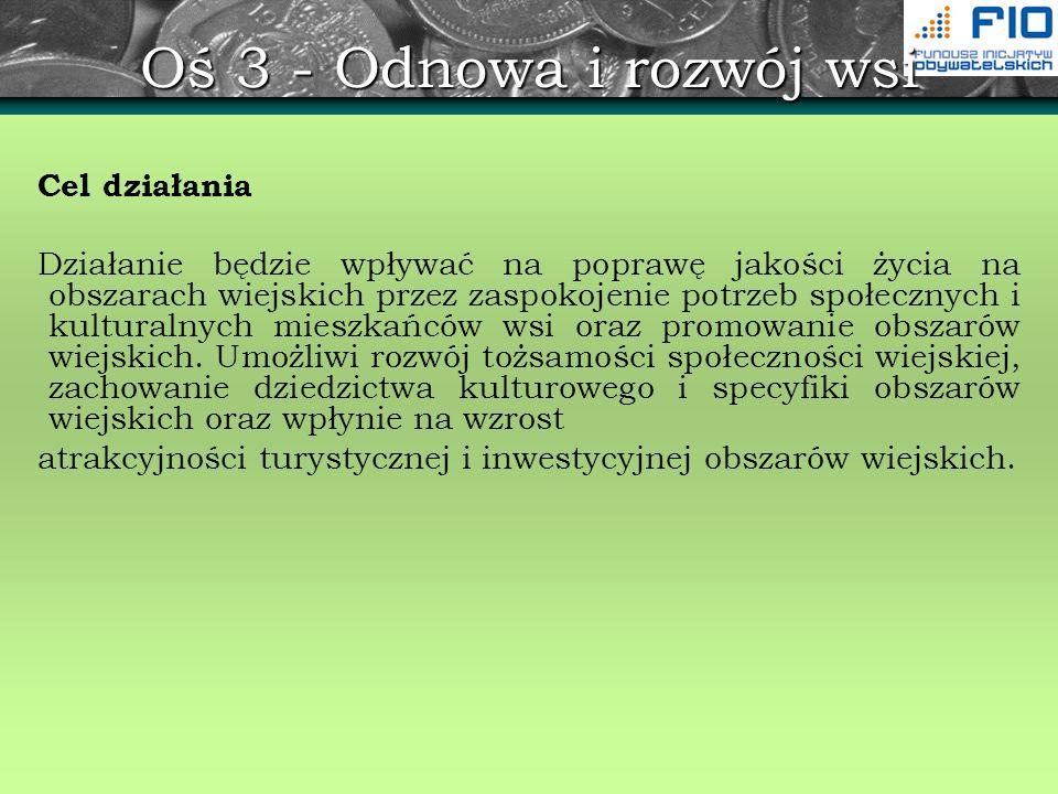 Regionalny Program Operacyjny - osie priorytetowe OŚ PRIORYTETOWA 3.