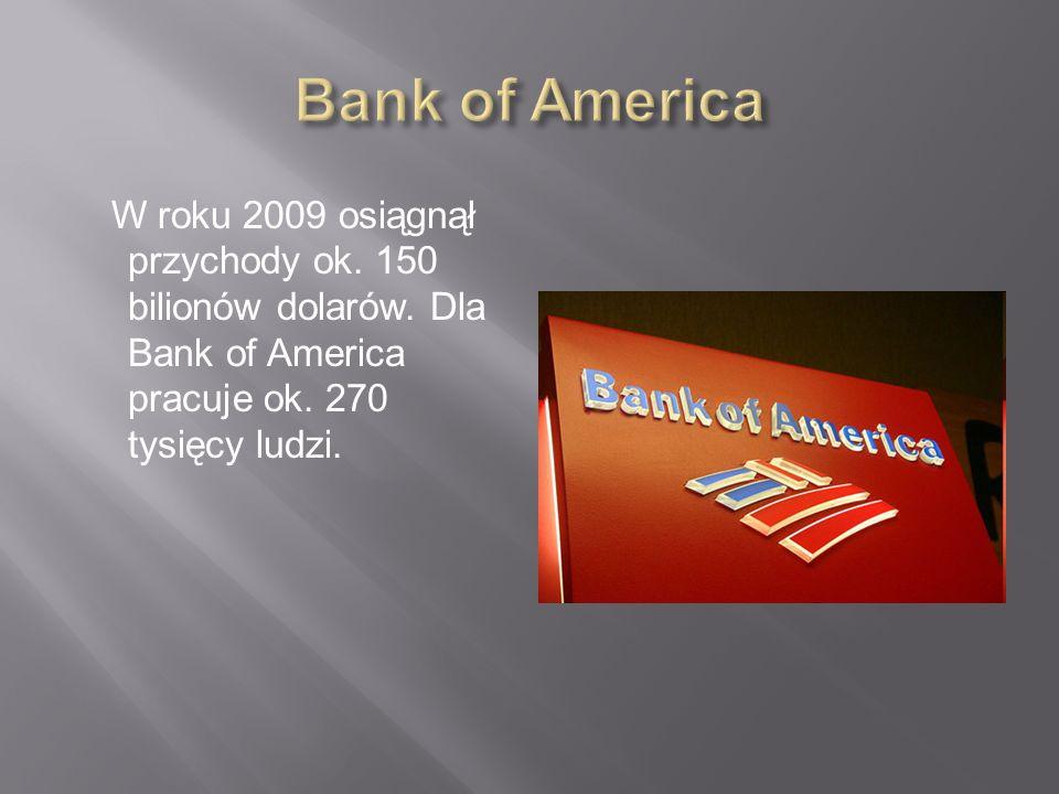 Największy bank świata założony w 1812 roku w Nowym Jorku jako City Bank of New York. Ma oddziały w ponad 100 krajach na całym świecie