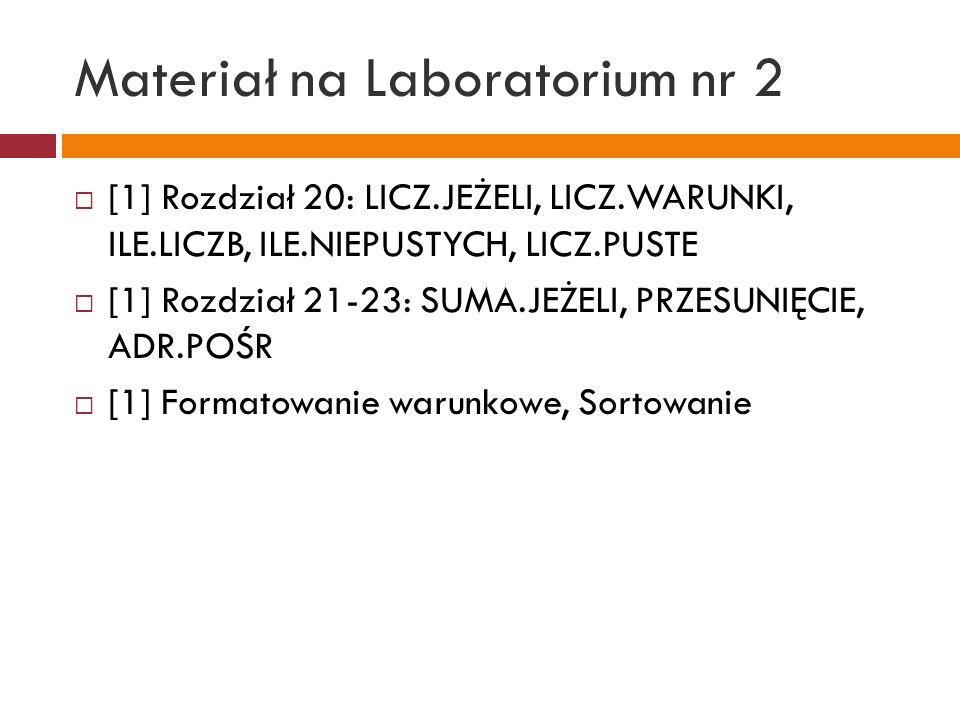 Materiał na Laboratorium nr 3 [1] Rozdział 23: ADR.POŚR [1] Rozdział 26: TABELE [1] Rozdział 43: TABELE PRZESTAWNE