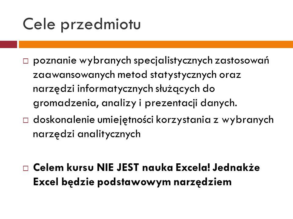 Literatura 1.Winston L.W., Microsoft Excel 2010.