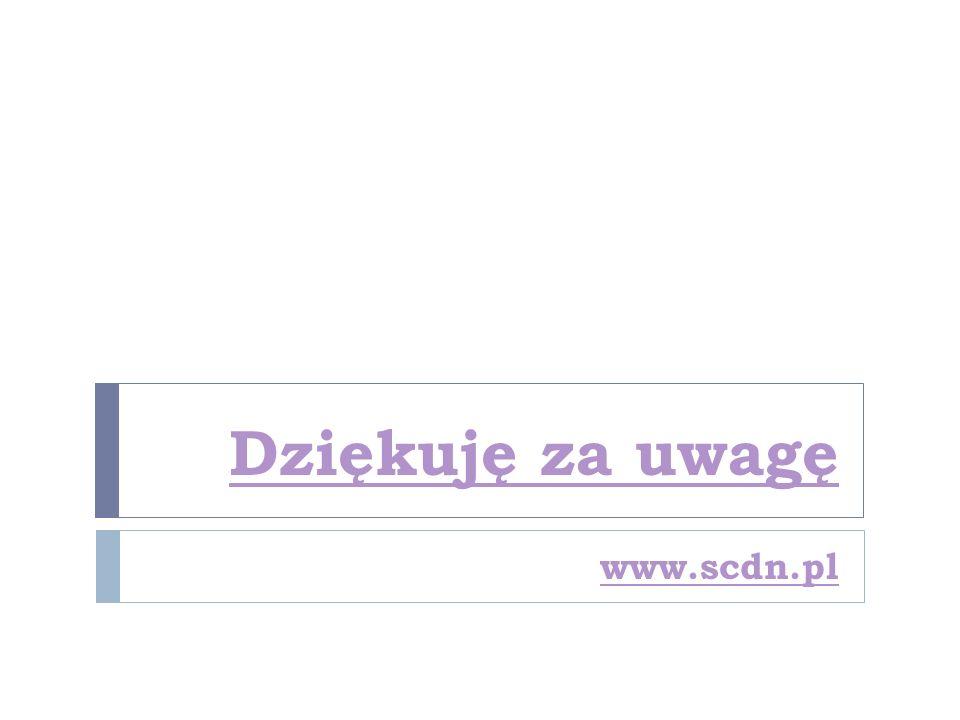 Dziękuję za uwagę www.scdn.pl