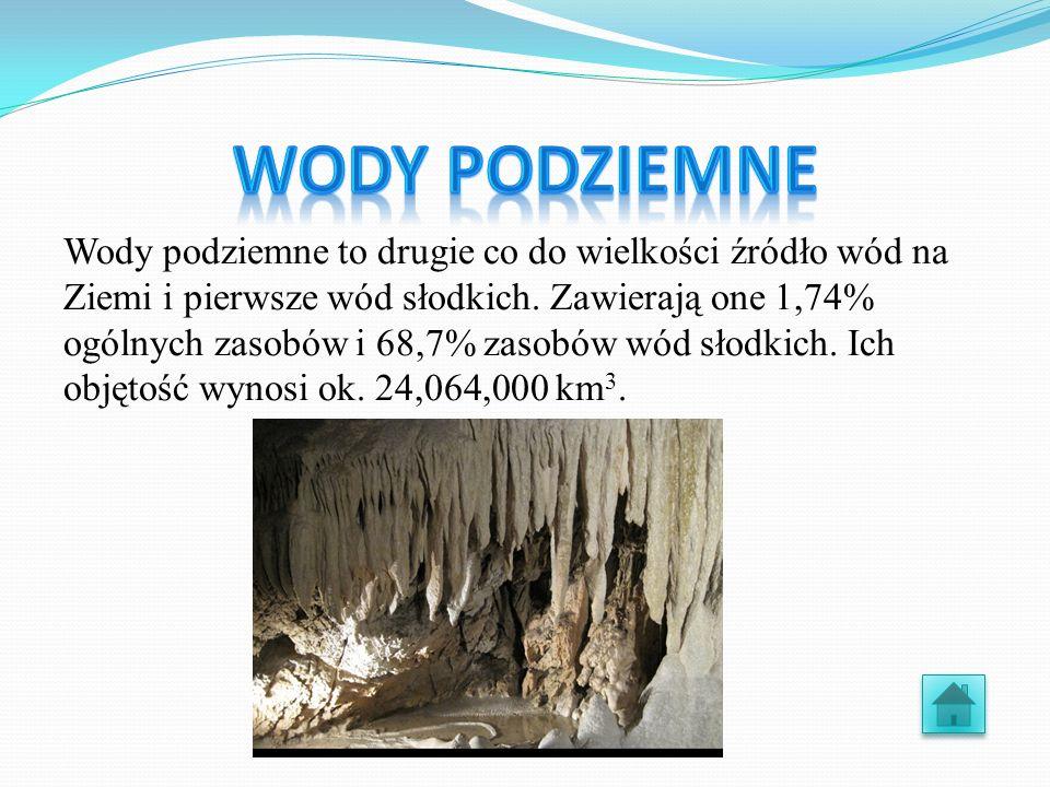 Jest to drugie co do wielkości źródło, które zawiera 30,1% zasobów wód słodkich,a ich objętość wynosi ok.