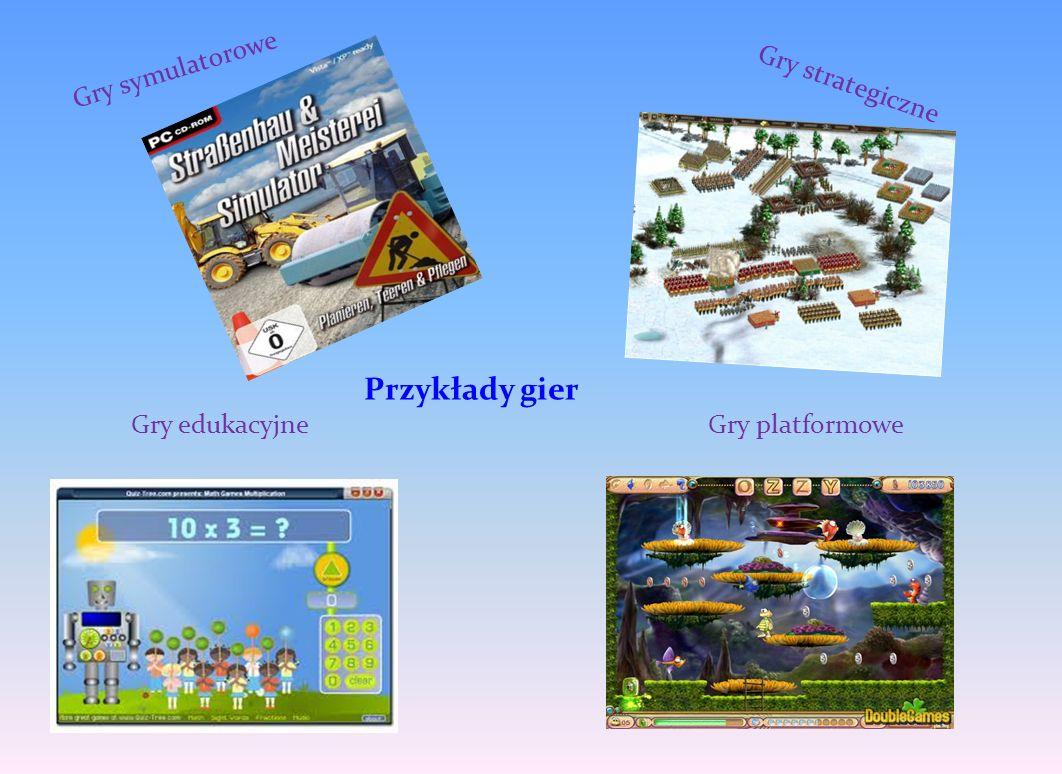 Gry strategiczne Gry symulatorowe Gry edukacyjneGry platformowe Przykłady gier