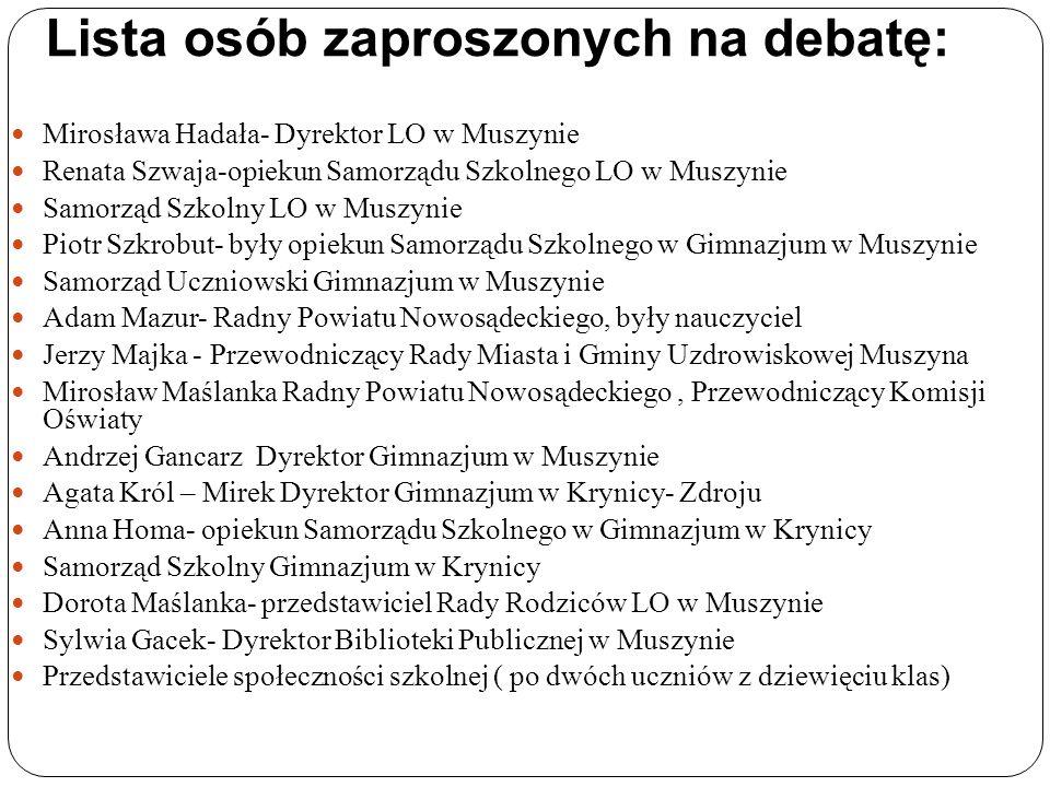 Główne zagadnienia poruszone na debacie : Czym jest samorządność.