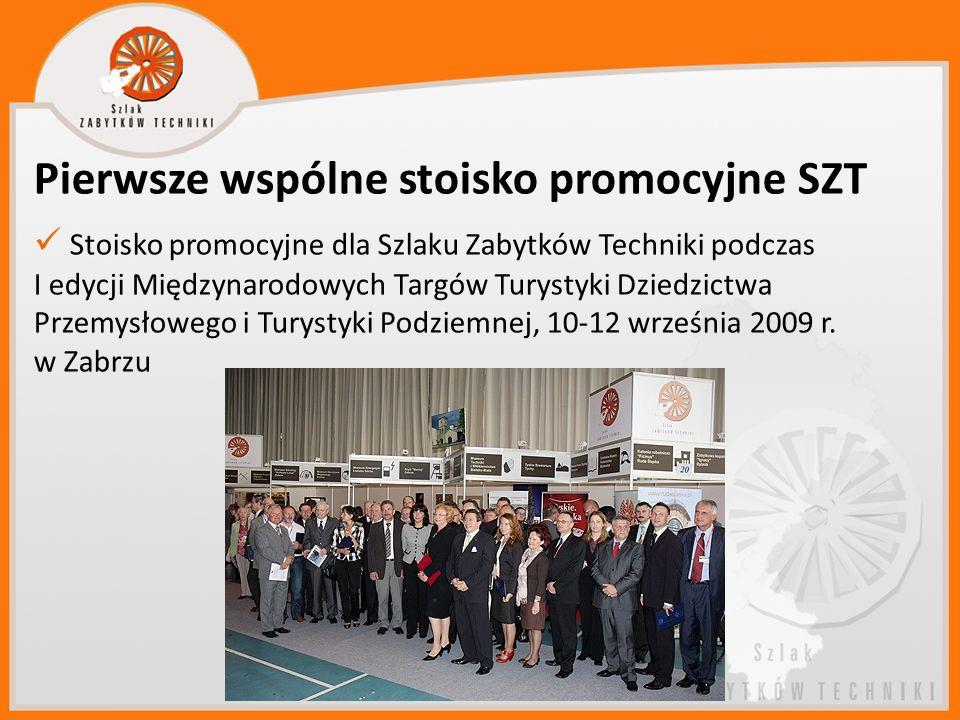 Pierwsze wspólne stoisko promocyjne SZT Stoisko promocyjne dla Szlaku Zabytków Techniki podczas I edycji Międzynarodowych Targów Turystyki Dziedzictwa