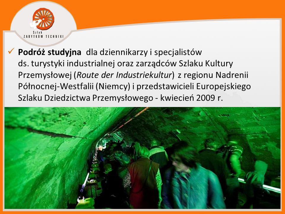 Podróż studyjna dla dziennikarzy i specjalistów ds. turystyki industrialnej oraz zarządców Szlaku Kultury Przemysłowej (Route der Industriekultur) z r