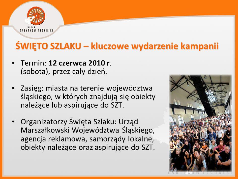 Termin: 12 czerwca 2010 r. (sobota), przez cały dzień. Zasięg: miasta na terenie województwa śląskiego, w których znajdują się obiekty należące lub as