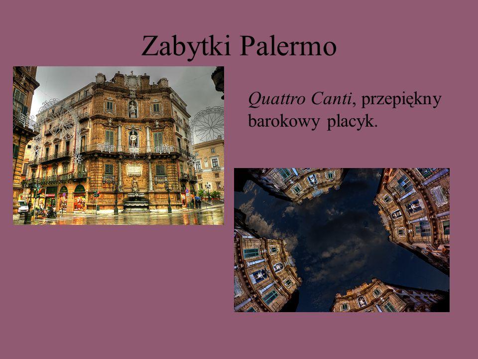 Zabytki Palermo Quattro Canti, przepiękny barokowy placyk.