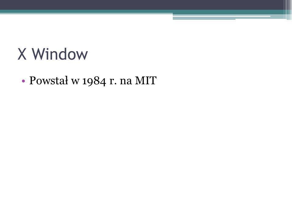 Powstał w 1984 r. na MIT