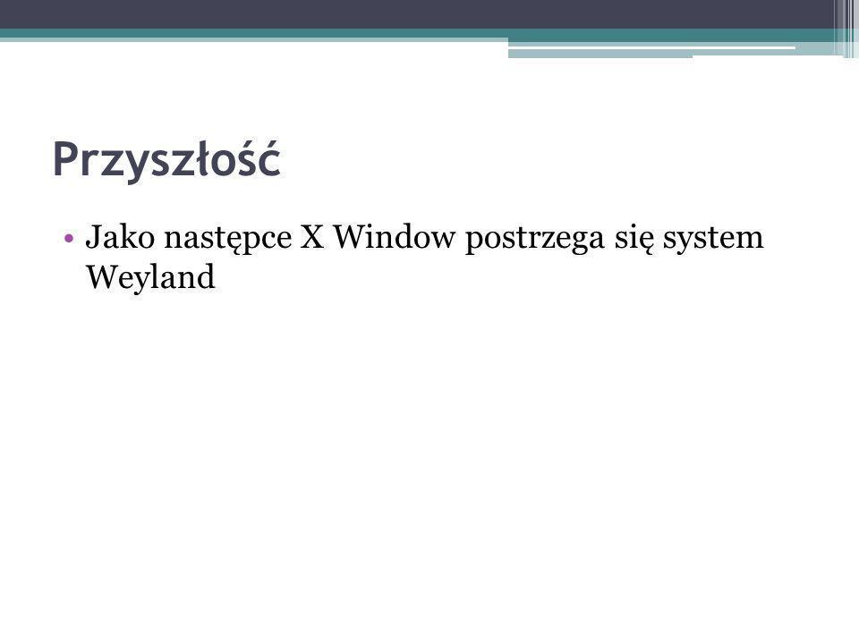 Jako następce X Window postrzega się system Weyland