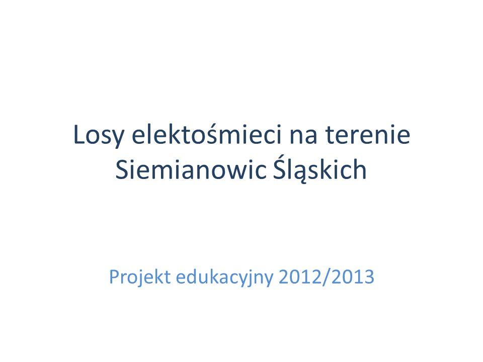 Losy elektośmieci na terenie Siemianowic Śląskich Projekt edukacyjny 2012/2013