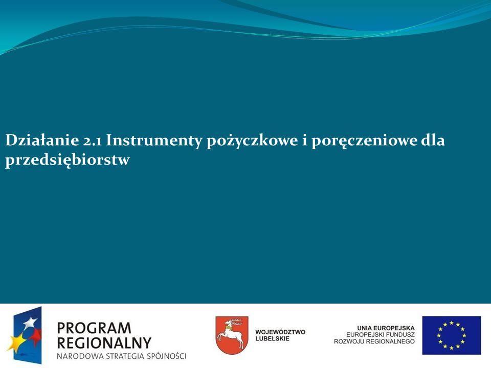 Działanie 2.1 Instrumenty pożyczkowe i poręczeniowe dla przedsiębiorstw