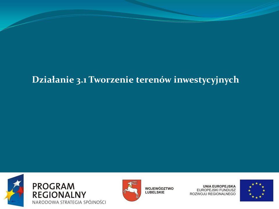Działanie 3.1 Tworzenie terenów inwestycyjnych