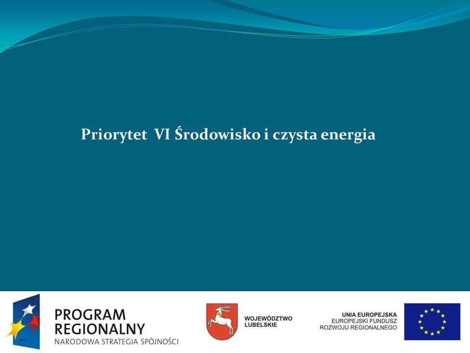 Priorytet VI Środowisko i czysta energia