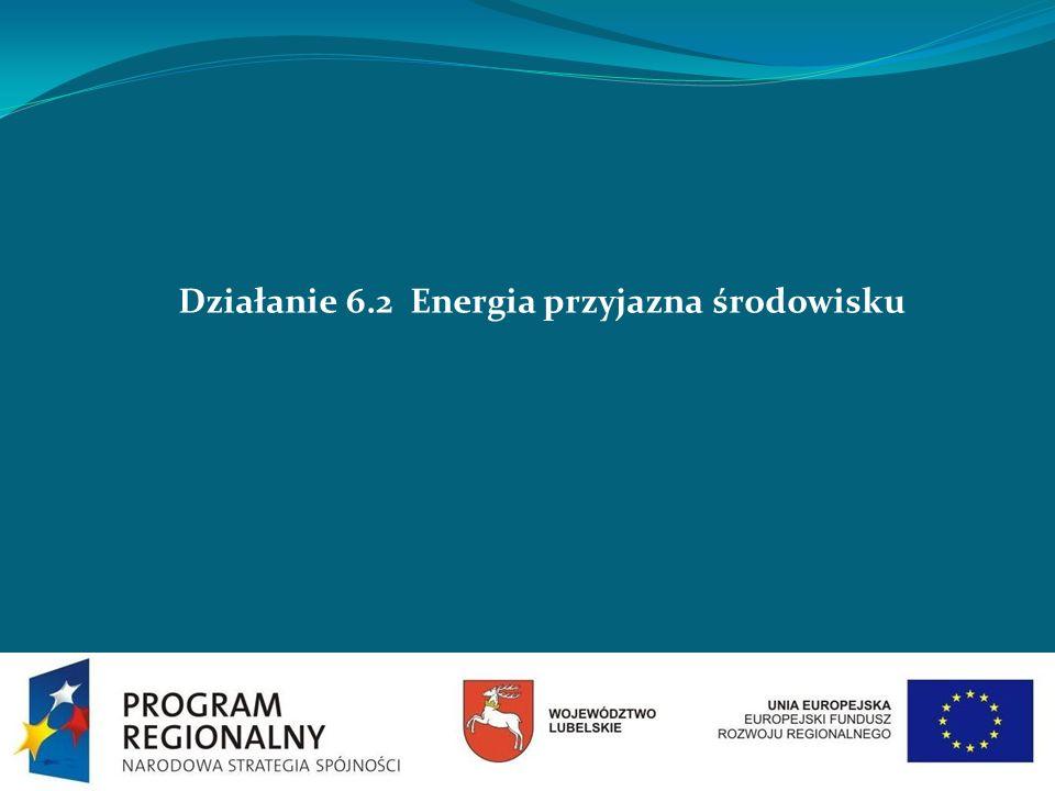 Działanie 6.2 Energia przyjazna środowisku