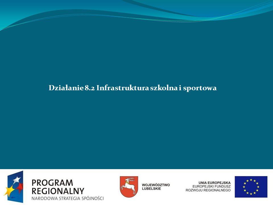 Działanie 8.2 Infrastruktura szkolna i sportowa