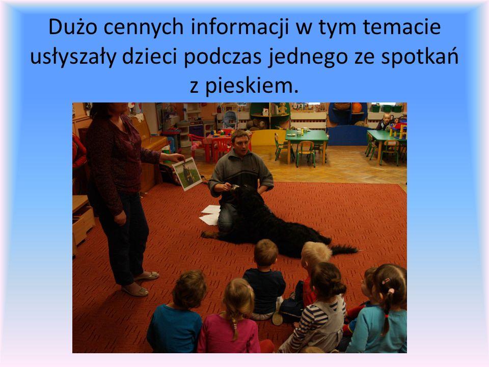 Dużo cennych informacji w tym temacie usłyszały dzieci podczas jednego ze spotkań z pieskiem.