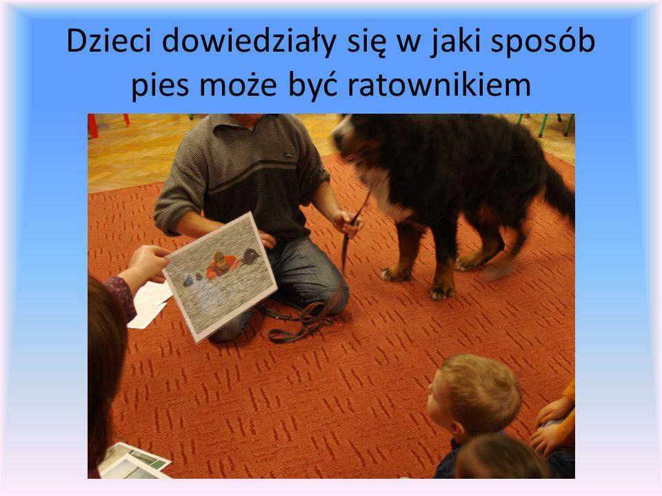 Dzieci dowiedziały się w jaki sposób pies może być ratownikiem
