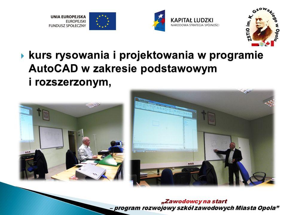 kurs rysowania i projektowania w programie AutoCAD w zakresie podstawowym i rozszerzonym, kurs rysowania i projektowania w programie AutoCAD w zakresi