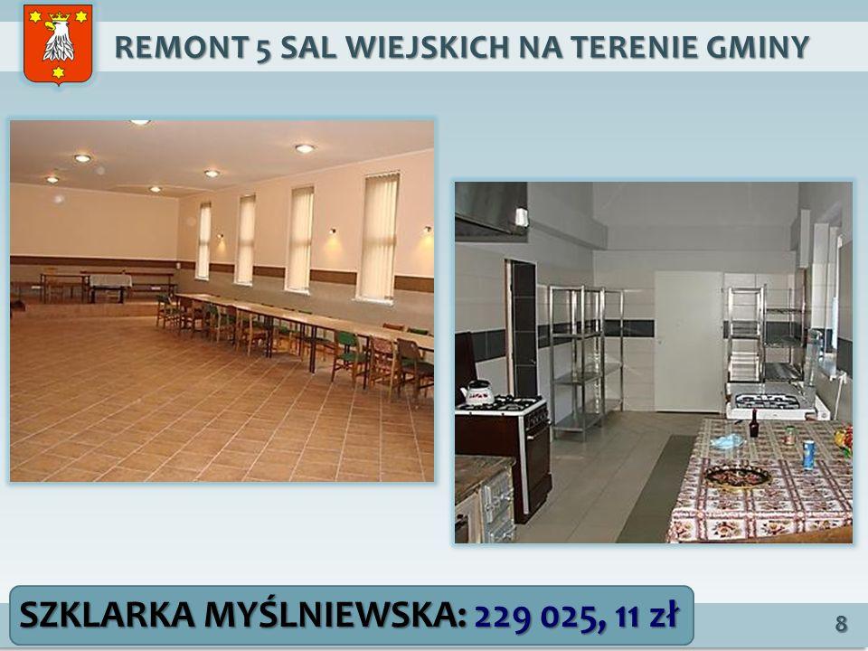 REMONT 5 SAL WIEJSKICH NA TERENIE GMINY REMONT 5 SAL WIEJSKICH NA TERENIE GMINY 8 SZKLARKA MYŚLNIEWSKA: 229 025, 11 zł