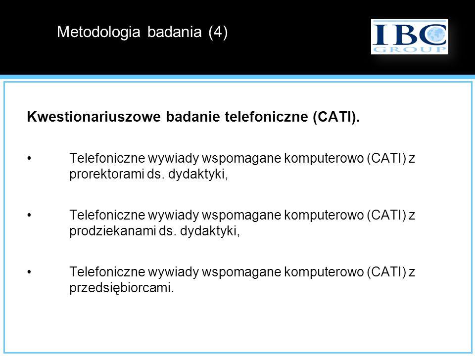 Kwestionariuszowe badanie telefoniczne (CATI). Telefoniczne wywiady wspomagane komputerowo (CATI) z prorektorami ds. dydaktyki, Telefoniczne wywiady w