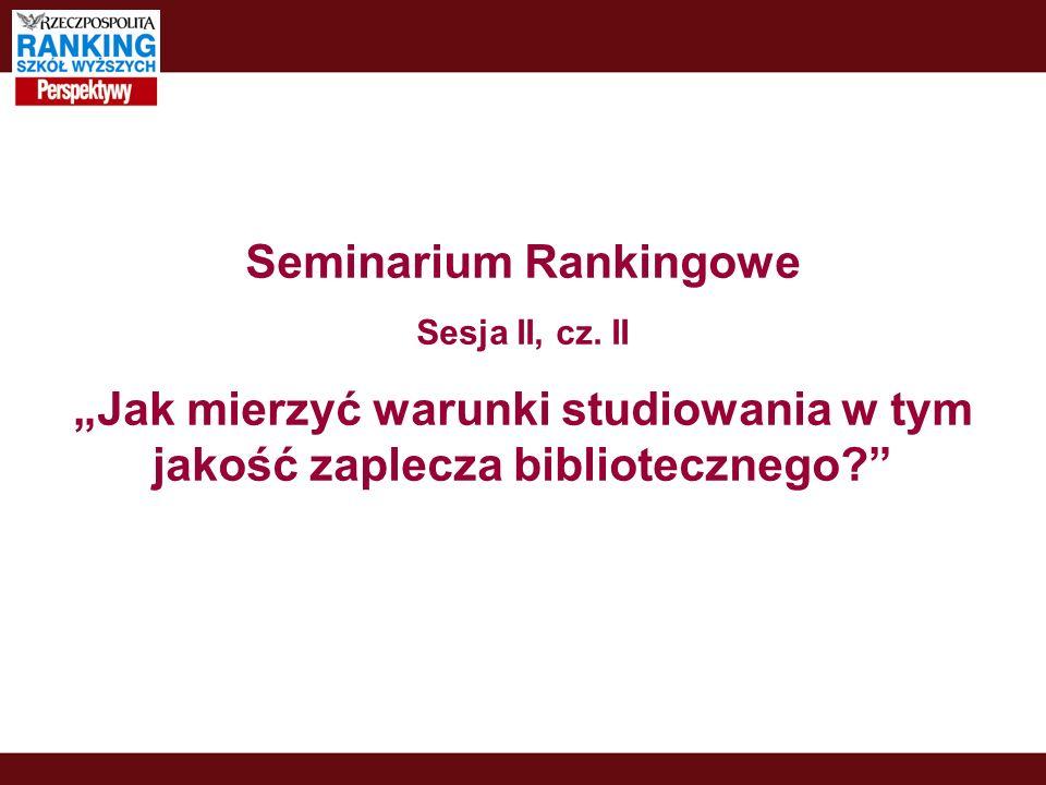 Seminarium Rankingowe Sesja II, cz.