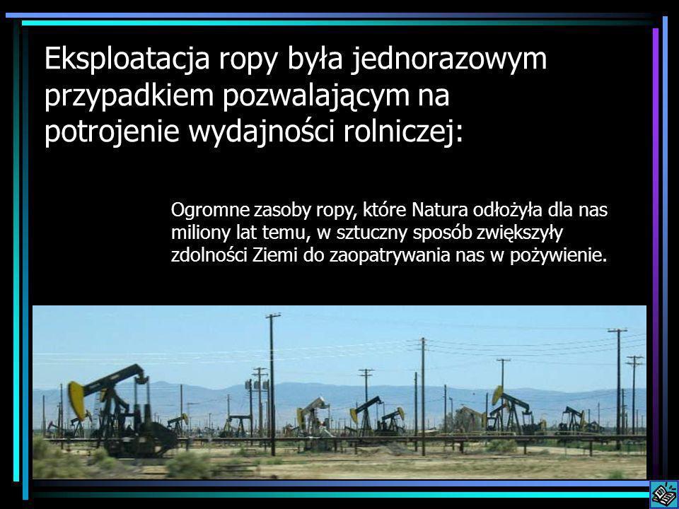 Eksploatacja ropy była jednorazowym przypadkiem pozwalającym na potrojenie wydajności rolniczej: Ogromne zasoby ropy, które Natura odłożyła dla nas mi