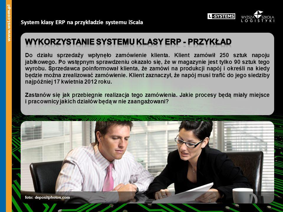 System klasy ERP na przykładzie systemu iScala foto: depositphotos.com