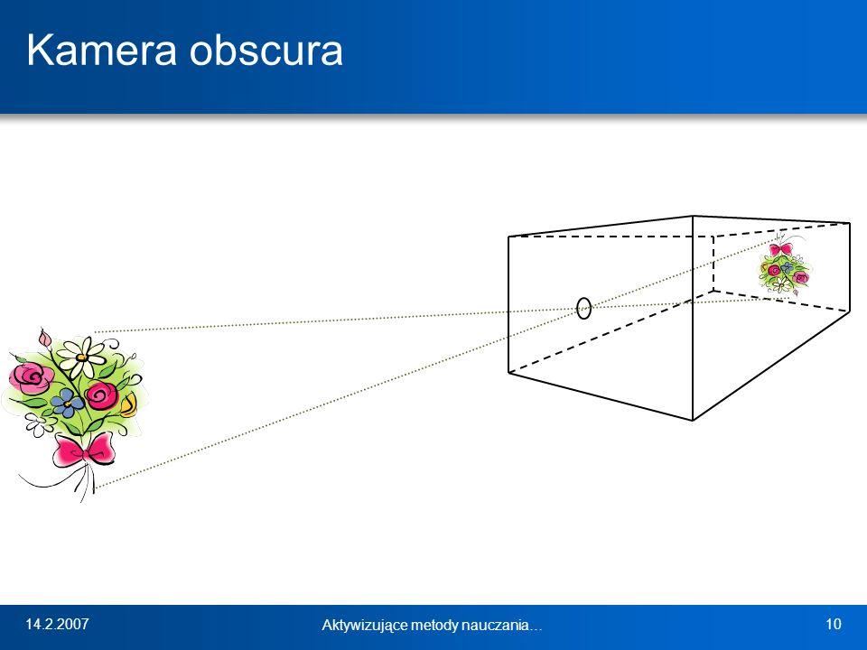 14.2.2007 Aktywizujące metody nauczania… 10 Kamera obscura