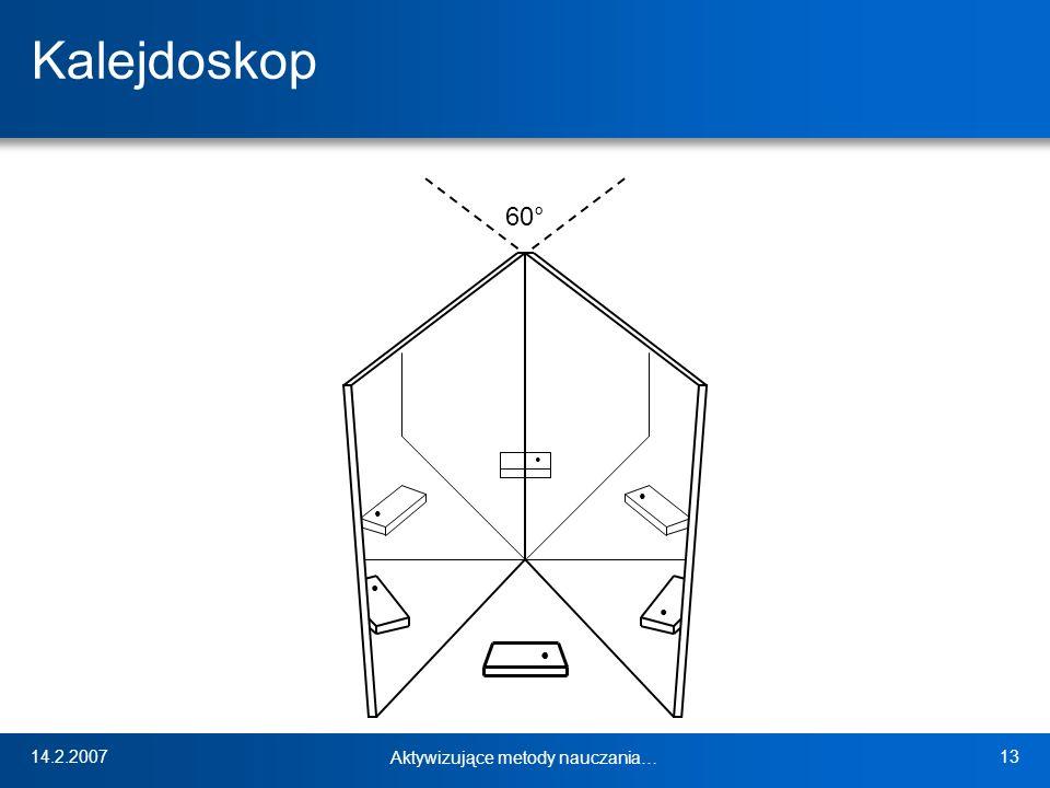 14.2.2007 Aktywizujące metody nauczania… 13 Kalejdoskop 60°