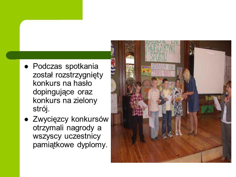 Podczas spotkania został rozstrzygnięty konkurs na hasło dopingujące oraz konkurs na zielony strój. Zwycięzcy konkursów otrzymali nagrody a wszyscy uc