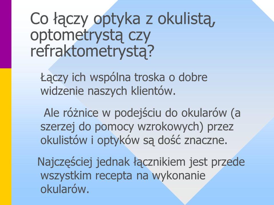 Co łączy optyka z okulistą, optometrystą czy refraktometrystą.