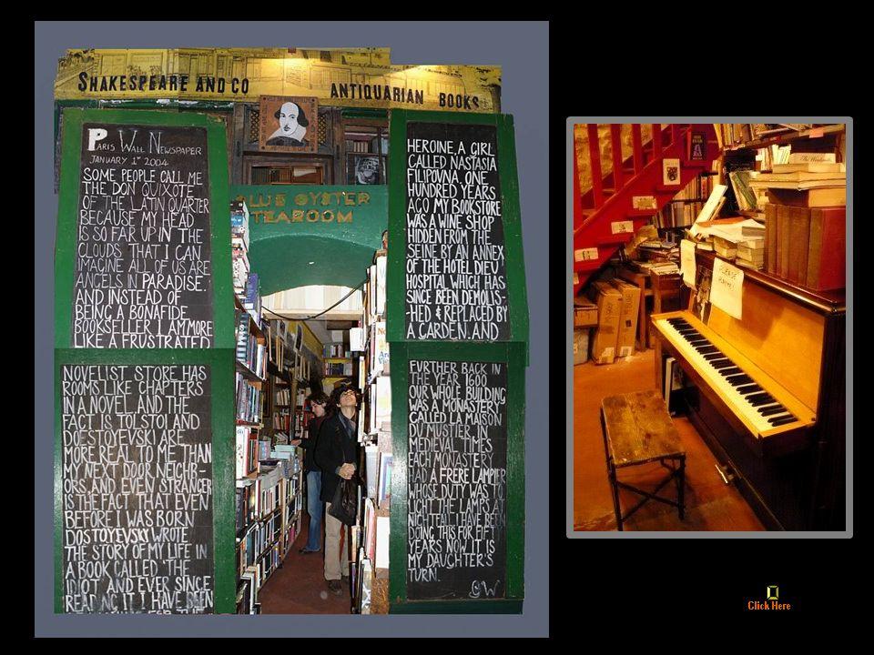 Shakespeare & Co. Antiquarian Books, Paryż. Prawdopodobnie najczęściej fotografowana księgarnia świata.