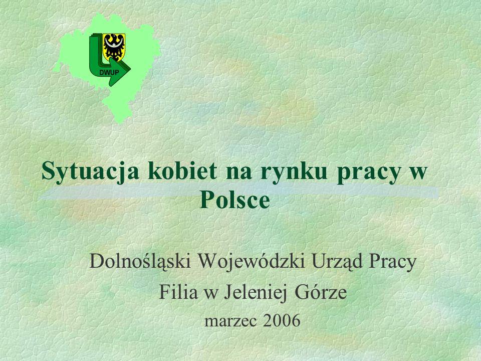 Sytuacja kobiet na rynku pracy w Polsce Dolnośląski Wojewódzki Urząd Pracy Filia w Jeleniej Górze marzec 2006