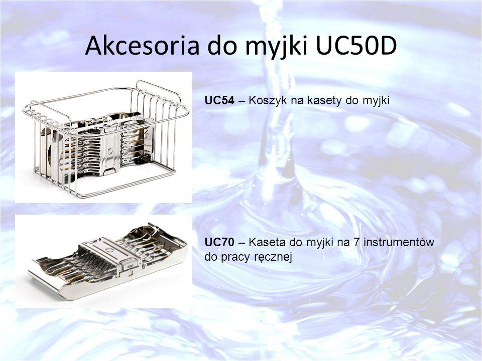 Akcesoria do myjki UC50D UC54 – Koszyk na kasety do myjki UC70 – Kaseta do myjki na 7 instrumentów do pracy ręcznej
