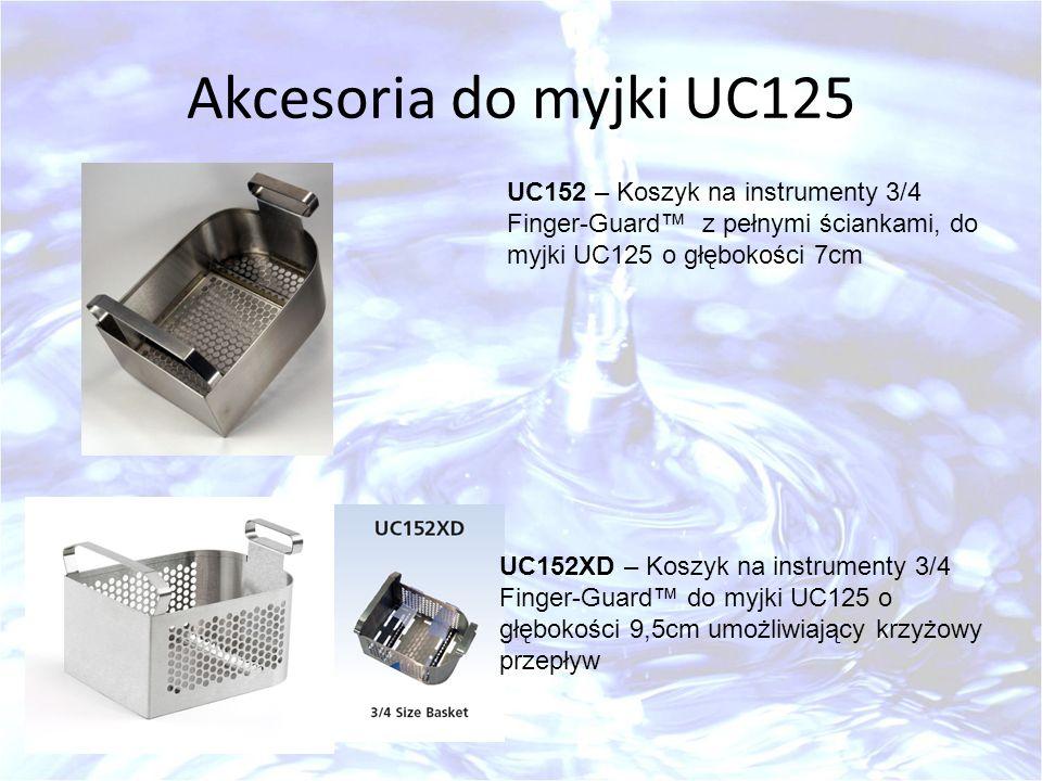 Akcesoria do myjki UC125 UC152 – Koszyk na instrumenty 3/4 Finger-Guard z pełnymi ściankami, do myjki UC125 o głębokości 7cm UC152XD – Koszyk na instr