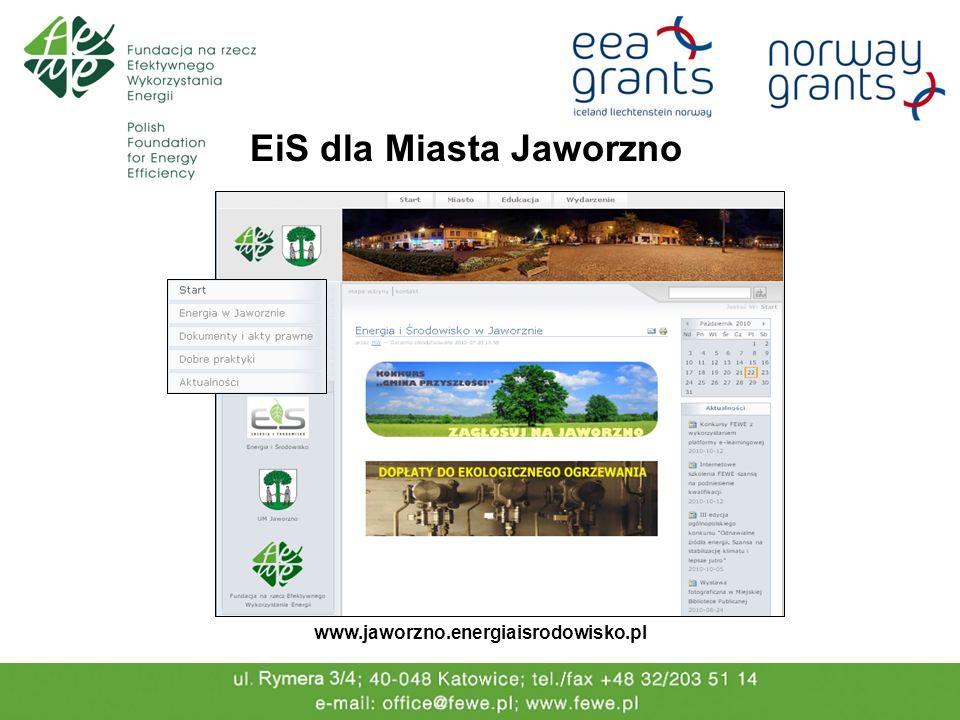 EiS dla Miasta Jaworzno www.jaworzno.energiaisrodowisko.pl