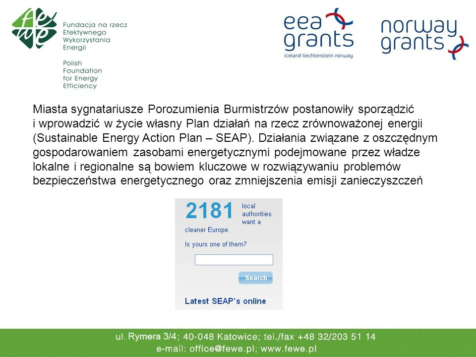 Więcej informacji: http://www.eumayors.eu/