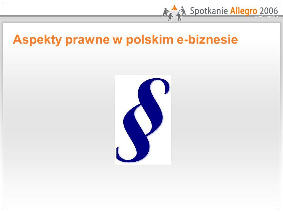 Aspekty prawne w polskim e-biznesie