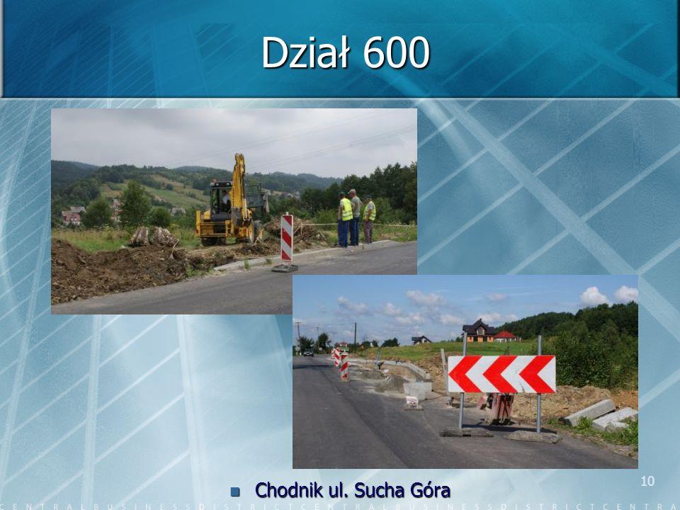 10 Dział 600 Chodnik ul. Sucha Góra