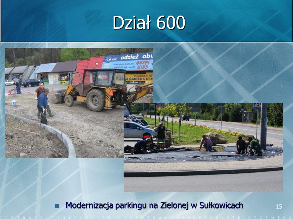 15 Dział 600 Modernizacja parkingu na Zielonej w Sułkowicach