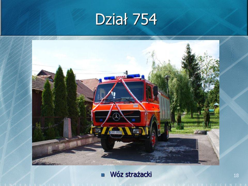 18 Dział 754 Wóz strażacki
