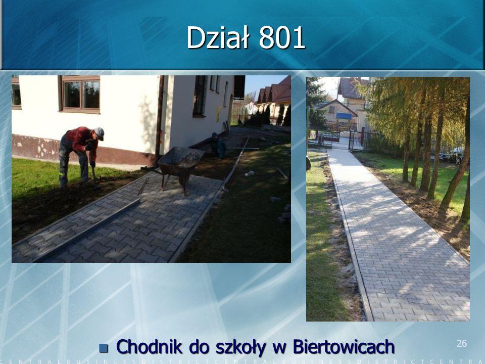 26 Dział 801 Chodnik do szkoły w Biertowicach