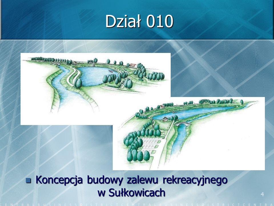 4 Dział 010 Koncepcja budowy zalewu rekreacyjnego w Sułkowicach