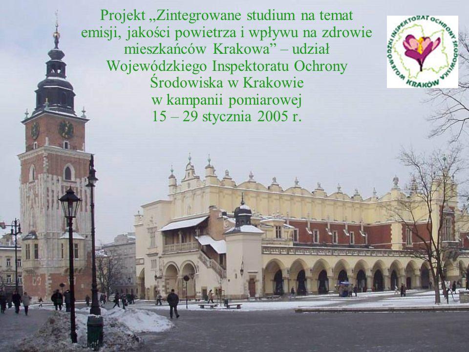 Projekt Zintegrowane studium na temat emisji, jakości powietrza i wpływu na zdrowie mieszkańców Krakowa – udział Wojewódzkiego Inspektoratu Ochrony Środowiska w Krakowie w kampanii pomiarowej 15 – 29 stycznia 2005 r.