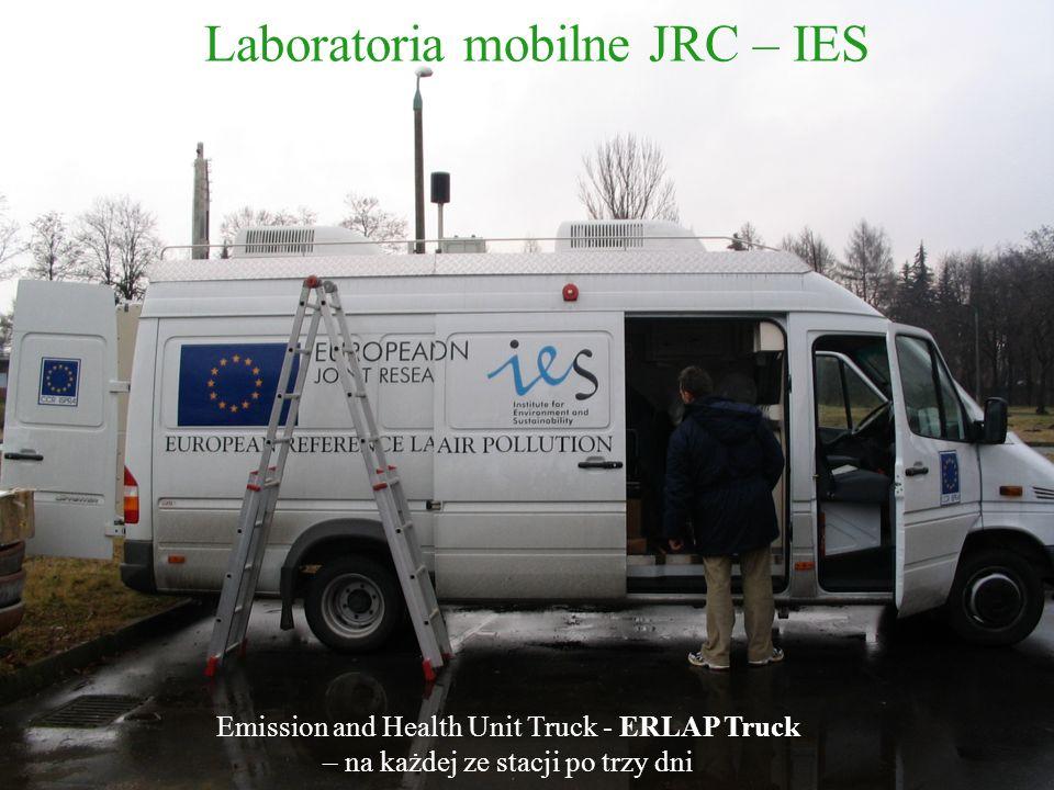 Emission and Health Unit Truck - ERLAP Truck – na każdej ze stacji po trzy dni