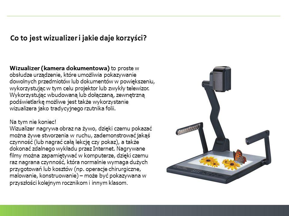 Co to jest wizualizer i jakie daje korzyści? Wizualizer (kamera dokumentowa) to proste w obsłudze urządzenie, które umożliwia pokazywanie dowolnych pr