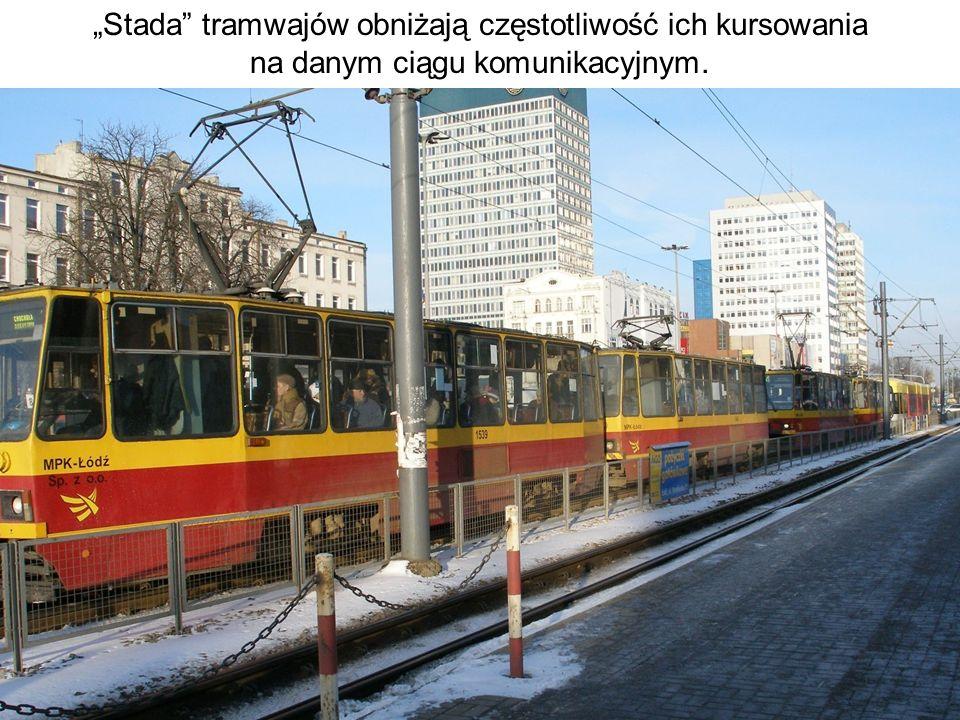 Stada tramwajów obniżają częstotliwość ich kursowania na danym ciągu komunikacyjnym.