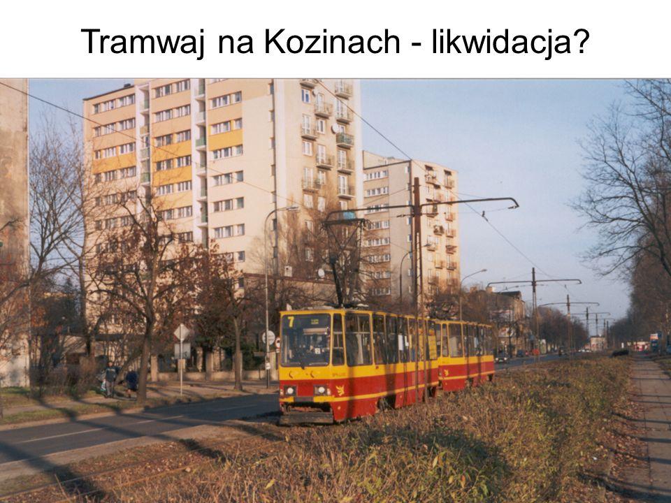 Tramwaj na Kozinach - likwidacja?