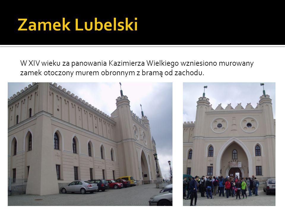 W XIV wieku za panowania Kazimierza Wielkiego wzniesiono murowany zamek otoczony murem obronnym z bramą od zachodu.